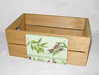 Деревянный ящик-органайзер, короб кухонный, фото 1