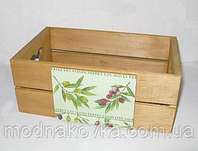 Деревянный ящик-органайзер, короб кухонный
