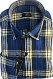 Рубашка мужская Gelix 1184 в клетку синяя, фото 8