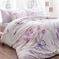 Постельное белье TAC ранфорс Lavander lila v02  евро размера