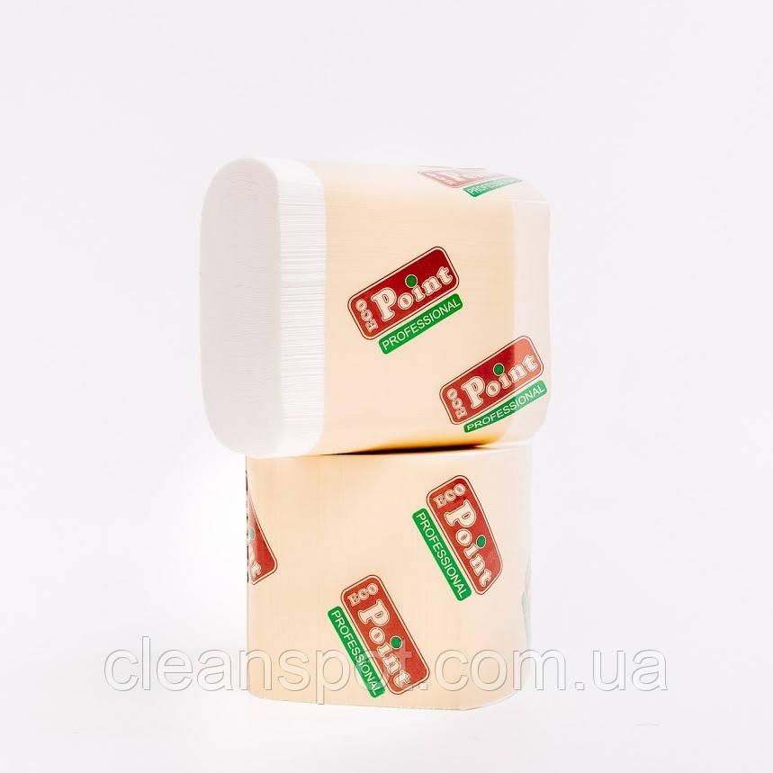 Листовая туалетная бумага 200шт 2-х сл целлюлоза Eco Point 24уп/ящ
