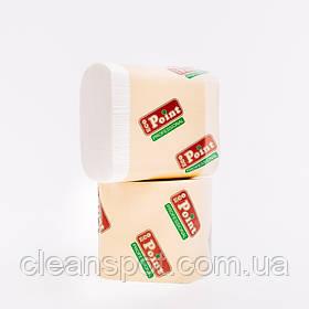 Листовий туалетний папір гладка 300шт целюлоза Eco Point
