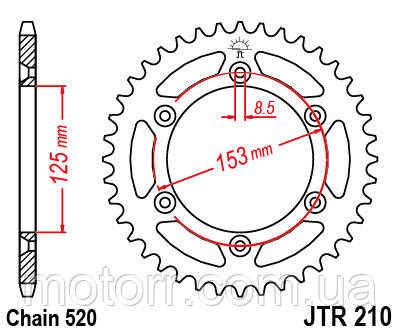 Задняя звезда JT JTR210.50