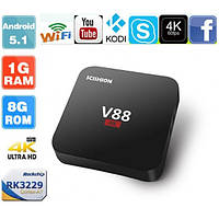 Смарт ТВ приставка, TV BOX Scishion V88, Rock Chip 3229 Quad-Core, Android 5.1, RAM 1GB, Wi-Fi