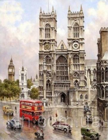 Алмазная мозаика Туманный Лондон 30*40 см (арт. FS338) квадратные камни , фото 1