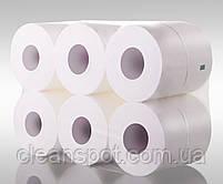 Туалетная бумага джамбо белая 2-шар 150 м Eco Point Clean гладкая, фото 2