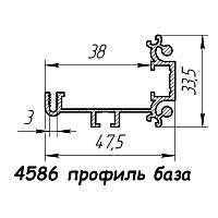 4586  профиль алюминиевый для фреймлайта, анод