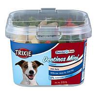 "Лакомство для мелких собак и щенков ""Dentinos Mini"" (рис) 140гр Trixie"