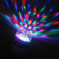 Вращающаяся RGB лампа LED Full Color Rotating Lamp Е27