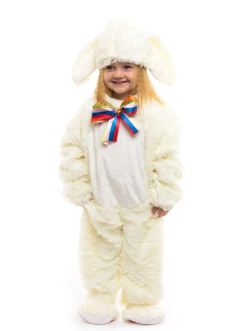 Карнавальный костюм Белого Зайчика. Для детей от 0,5 до 2,5 лет