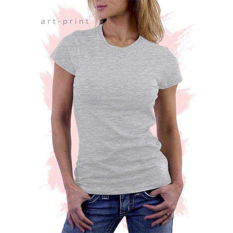 Футболки серые женские однотонные - Печать на футболках, тканях и одежде | Интернет-магазин art-print в Хмельницком