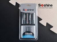 4 шт. Аккумуляторы LiFePO4 Soshine 14500 (AA) 3.2V 700mAh