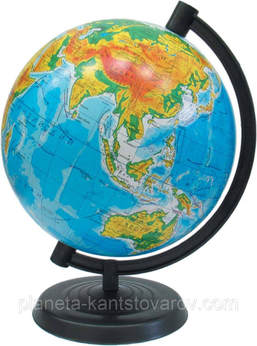 Глобус физический 26см на укр.языке