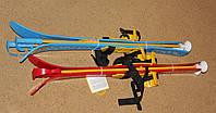 Зимний набор для активных игр: Лыжи с палками детские.