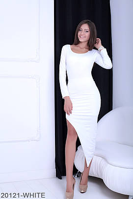 Стильне біле вечірнє плаття Lesko (XS-XXL)