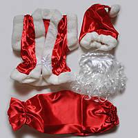 """Детский новогодний костюм  """"Гномик""""-красный."""