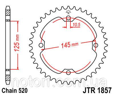 Задняя звезда JT JTR1857.45