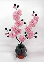 Цветок из бисера орхидея