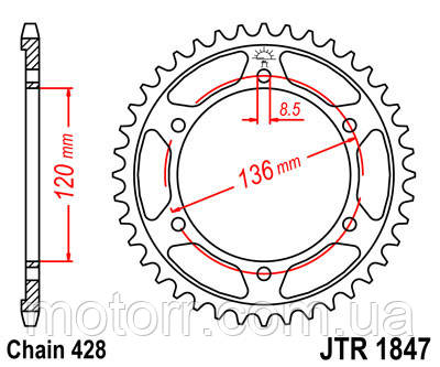 Задняя звезда JT JTR1847.51