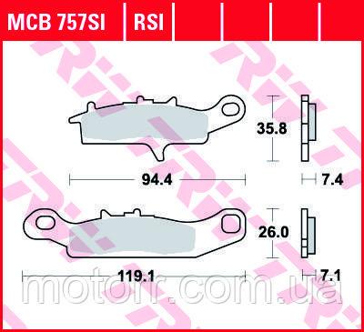 Тормозные колодки TRW / LUCAS MCB757SI