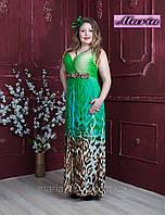 Платье длинное большего размера 46-48р.