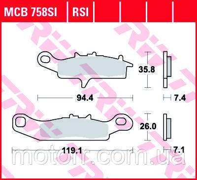 Тормозные колодки TRW / LUCAS MCB758SI