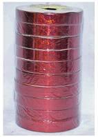 Подарочная лента голографическая красная 765-14