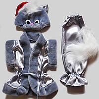 """Карнавальный костюм для мальчика """"Серый кот""""."""