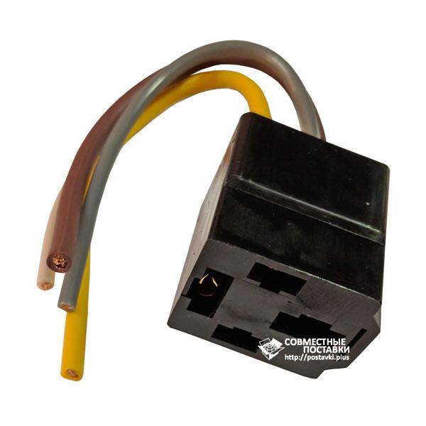 Разъем реле ГАЗель усиленный. Колодка с проводами, наконечниками. (22500)