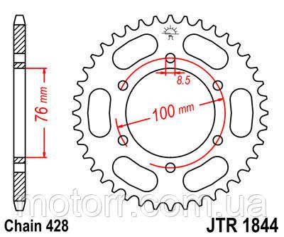 Задняя звезда JT JTR1844.48