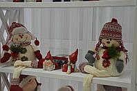 Снеговики пара сидя мягкие 60 см.