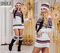 Комплект свитер + гетры + шапка вязка р909(гл)