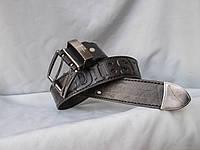Ремень мужской  джинсовый, пряжка-шпенек на 2, натуральная кожа, фото 1