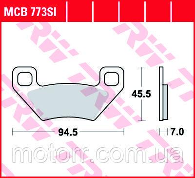 Тормозные колодки TRW / LUCAS MCB773SI