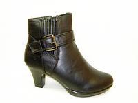 Сапоги женские зимние черные на каблуке С513 р 36,37