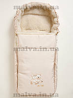 Конверт меховый в коляску Al-len №3 (Молочный)