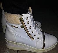 Сникерсы женские зимние белые мод № 2030 ВЕРОН