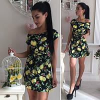 Женское летнее платье мини с открытым плечом Dolce & Gabbana