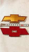 Эмблема ШЕВРОЛЕ жёлтая 134 Х 50 мм.