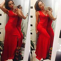 548dcf51a78 Платье Женское в Пол Красное Гипюр SD -307 — в Категории
