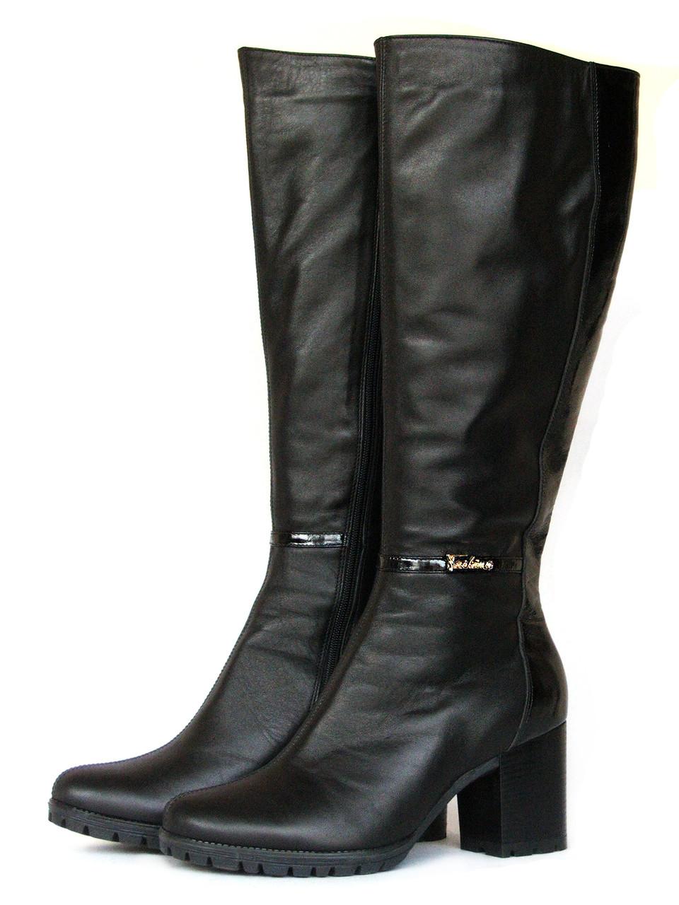 ba38b4bf0dca Зимние кожаные сапоги на каблуке - купить по лучшей цене в Запорожье от  компании ...