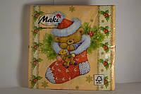 Салфетки праздничные Maki трьох шаровые 20 шт.