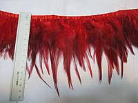 Боа пір'я на тасьмі червоне 12 см