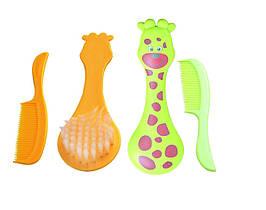 Гребінець зі щіткою для волосся (жираф) LI 600 ЛІНДО( Ч )
