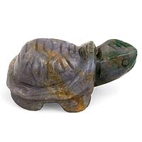 Яшма серо-зеленая, статуэтка черепашка, 138ФГЯ