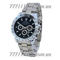 Часы мужские наручные Rolex Cosmograph Daytona Date Silver-Black