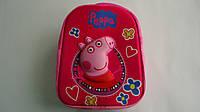 """Детский 3D рюкзак """"Синка Пеппа"""",330*260*80мм,ТМ Копыця .Плюшевый детский рюкзачок  """"Peppa Pig"""" с регулируемыми"""