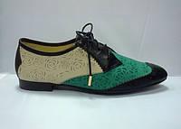 Туфли из кожи комбинированных цветов, фото 1