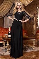 Красивое черное платье в пол