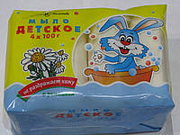 Детское мыло Невская Косметика 4 шт*100 г экопак (с ромашкой)